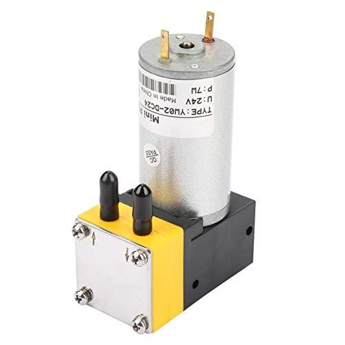 Bomba de vacío, mini compresor de aire de diafragma de 24 V 0,4-1 L/min, bomba de diafragma en miniatura Bomba de vacío para aire/líquido