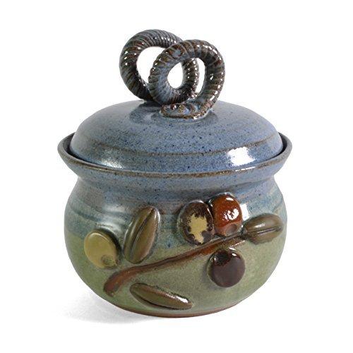 MudWorks Pottery Olive Branch Garlic Keeper