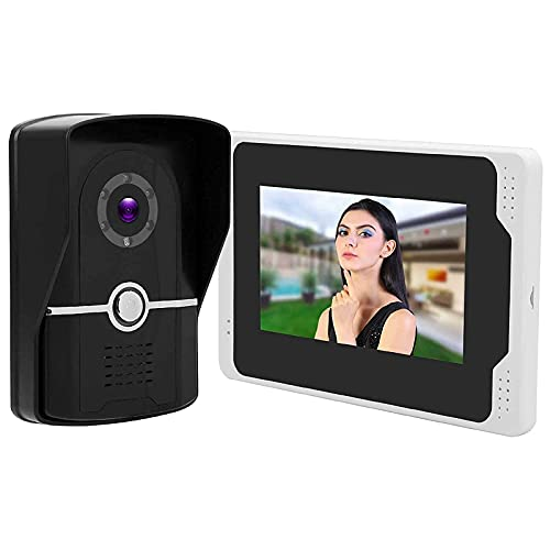 FMOGG Sistema di Videocitofono con Schermo HD da 7 Pollici, Campanello Video WiFi 1080P, Campanello Citofono Wireless Resistente alle Intemperie con Telecomando E Visione Notturna