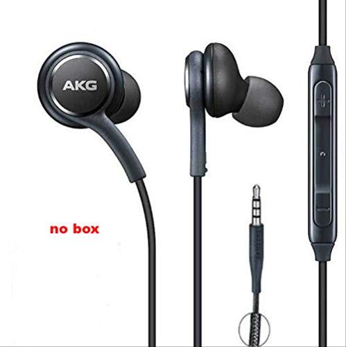 In-ear koptelefoon, AKG koptelefoon IG955 3.5mm /Type-c in-ear, geluidsbestendig/zuiver/sterke bas-koptelefoon, met microfoon lijn controle koptelefoon, geschikt voor Samsung Note10/note10 + S8 S9 s10,smartphone 3.5MM Zwart
