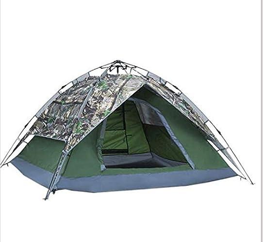 YHSFC Camping Tente de Voyage étanche et Solaire Prougeection Solaire Double Ouverture Wigwam de Camouflage à Ouverture Rapide
