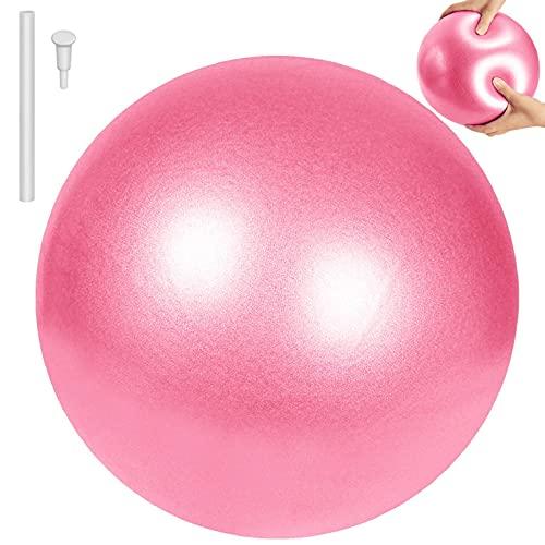 CMTOP Pelota de Pilates de Yoga Pelotas de Ejercicio Anti-Burst Ballon Fitness Softball Pilates Suave Antideslizante Bola de Yoga Pilates para Yoga Equilibrio Entrenamiento 25cm(Rosa,25cm)