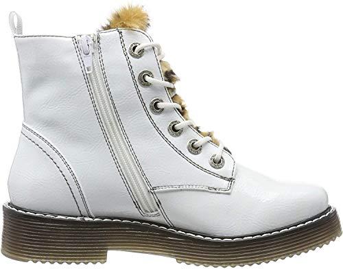 bugatti Damen 432549325969 Kurzschaft Stiefel Stiefeletten,  Weiß (White/Brown 2060),  36 EU