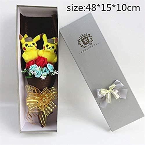 Detective Beau speeltjes Knuffels Pikachu met kunstmatige bloemen boeketten Uit Cartoons creatieve gaven eind van St. studies - Valentine Blanc
