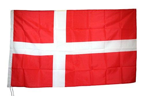 G.V. Deense vlag Denemarken DANSK vlag 90x150 cm hoge kwaliteit 'Stof Oft Sturdy