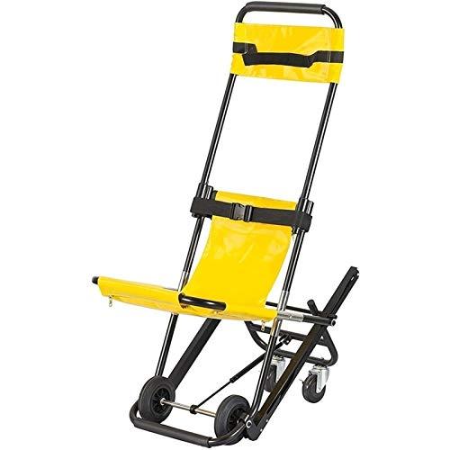 PoJu Klappbarer EMS Treppenstuhl, Treppenstuhl mit 4 Rädern Aluminium Leichtgewichtige medizinische Mobilitätshilfe mit Schnellverschluss für ältere Menschen, Behinderte