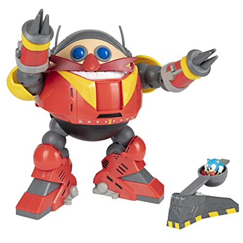 Sonic The Hedgehog Giant Eggman Robot Battle Set with Catapult - 30th...