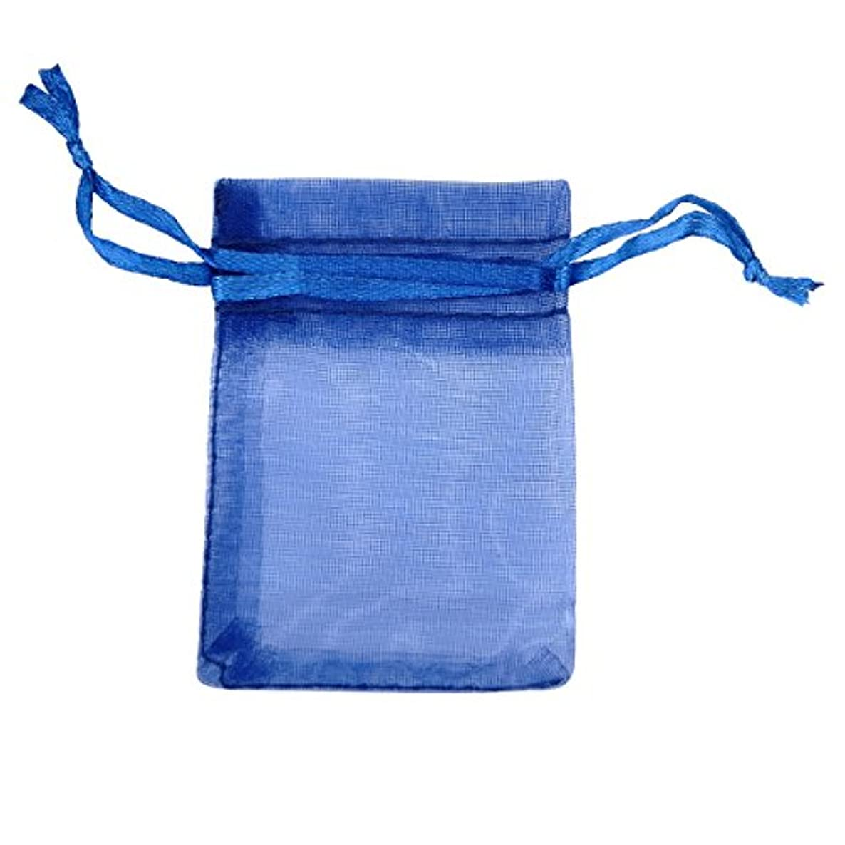 Dark Navy Drawstring Organza Jewelry Pouch Bags Favor Gift Bags for Party/Game/Wedding,Set of 50pcs