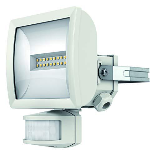 Theben 1020811 theLeda EC10 WH – LED-Strahler mit Bewegungsmelder, Flutlicht, Scheinwerfer, schwenkbar, 10 Watt, weiß