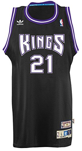 adidas Vlade Divac Sacramento Kings NBA Throwback Swingman - Camiseta de manga corta, color negro