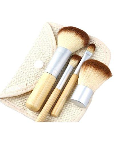 AKAAYUKO 4PCS Kit De Pinceau Maquillage Professionnel Pinceaux Makeup Brushes