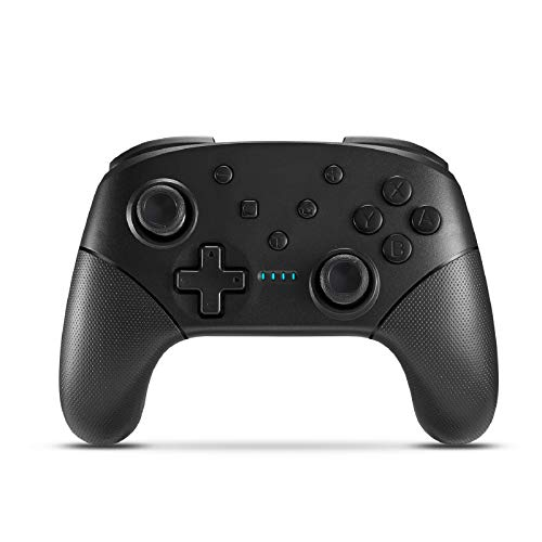 Wireless Switch Controller for Console Pro Gamepad with Joystick [2021 New] Non-Slip Ergonomic Design, Black
