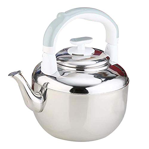 DINNA Stainless Steel Stove Top Kettle Retro Style Whistling Kettle Suitable for All Hob Stove Types Including Induction 4.5L,Gray
