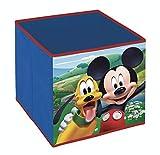 Superdiver Cubo Organizador Plegable de Tela Disney Mickey Mouse para Niño -...