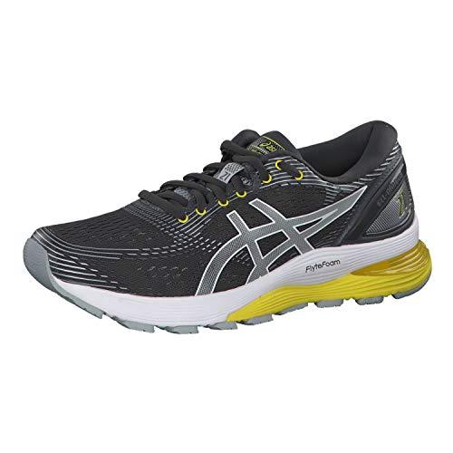 Asics Gel-Nimbus 21, Zapatillas de Running Mujer, Gris (Dark Grey/Mid Grey 021), 38 EU