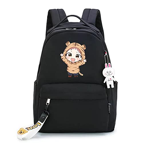 AHLBVTM Conjuration Back to Battle Schoolbag Polygonum cuspidatum Yourin Dog Curly Buckle Backpack Peripheral Anime Backpack-Pendant Black Baby Polygonum cuspidatum, 29X14X41CM