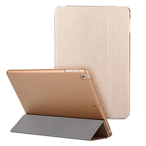 Hülle für iPad (9,7 Zoll, Modell 2018/2017, 6. / 5. Generation), Colorful Äußerst Schlank Leichtgewicht Ständer mit Transluzent Matt Rückseite Intelligente Hülle für Apple iPad 9.7 Zoll (Gold)
