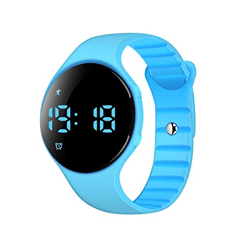 iGANK Fitness Tracker Watch, T6S Simple Smart Bracelet Walking Pedometer Watch Step Counter/Calorie Burned/Distance/Alarm/Stopwatch for Kids Men Women, No App Required (Blue)