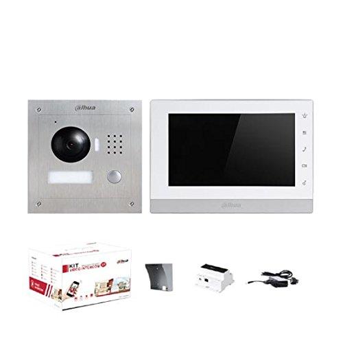 "Kit Videocitofonico Monofamiliare 7"" Touch IP 2-Wire Bifilare 1.3Mpx 720p Dahua"