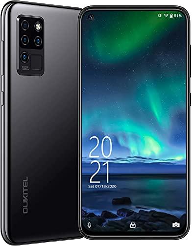 OUKITEL C21 Unlocked Smartphone, Android 10 Unlocked Cell Phone with Dual Sim 64GB/4GB 20MP Selfie Helio P60 6.4'' FHD+ Octa Core 4000mAh Face ID + Fingerprint GSM 4G, GPS, Bluetooth, WiFi