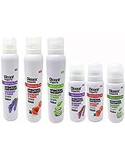 Dicora UrbanFit Pack surtido Sprays hidroalcohólico para desinfectar las manos. Fragancia Aloe Vera, Melocotón y Lavanda. Caja con 3 botes 75 ml y 3 botes 200 ml de cada fragancia