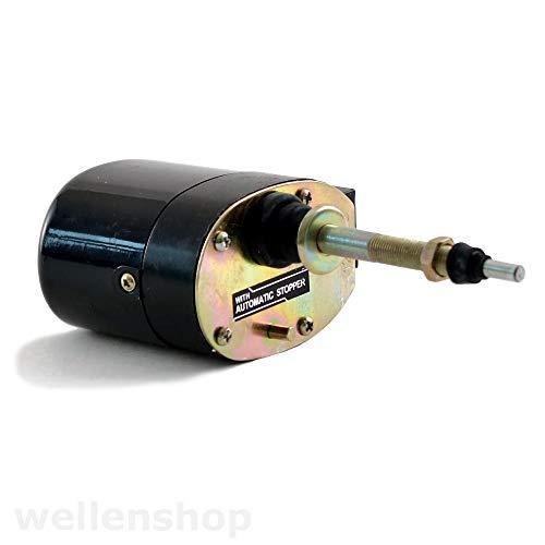 Nautika universeller 12V Scheibenwischermotor mit Schalter 40 mm Wandung Wischermotor Boot Scheibenwischer