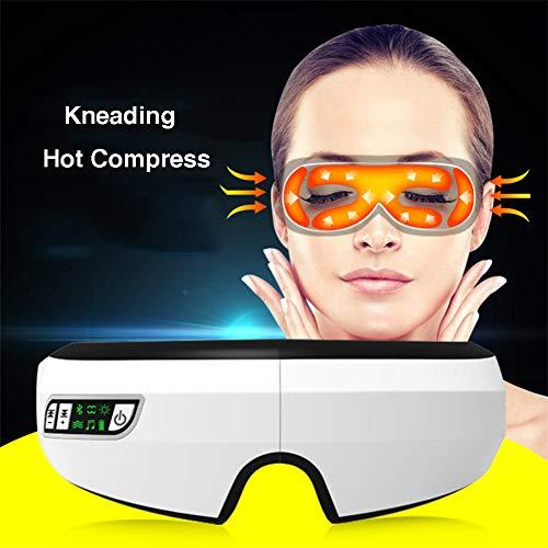 Drahtloses Augenmassagegerät 180 ° Faltbare Augenmaske mit Luftdruckmassage Vibration Heat Compression und Bluetooth Beruhigende Musik für die Augenbeschwerden Relax Vision