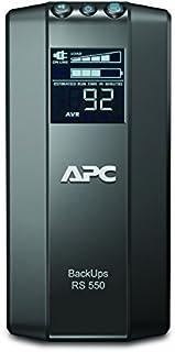 APC by Schneider Electric Back UPS PRO   BR550GI   USV 550VA Leistung (Stromsparfunktion, IEC   Kaltgeräte Ausgänge, Multifunktionsdisplay, inkl. 150.000 Euro Geräteschutzversicherung)