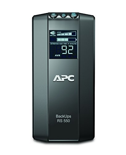 APC by Schneider Electric Back UPS PRO - BR550GI - USV 550VA Leistung (Stromsparfunktion, IEC - Kaltgeräte Ausgänge, Multifunktionsdisplay, inkl. 150.000 Euro Geräteschutzversicherung)