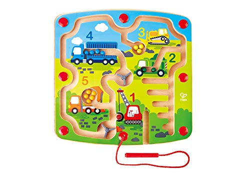 Hape E1713 Wooden Construction & Number Magnetic Maze