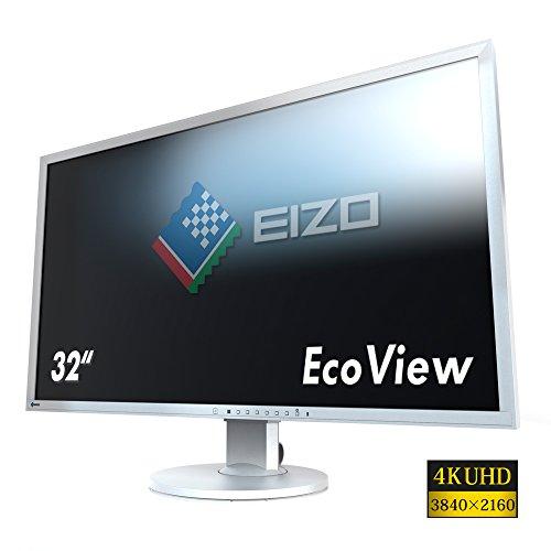 Eizo EV3237-GY 80 cm (31,5 Zoll 4K UHD) Monitor (DVI-D, HDMI, DisplayPort, 5ms Reaktionszeit, Auflösung 3840 x 2160) grau