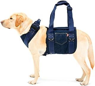 With(ウィズ) 歩行補助ハーネス LaLaWalk 大型犬用 デニム L サイズ
