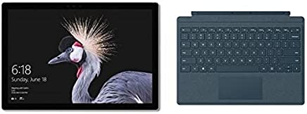 Microsoft Surface Pro 2017 Tablet - Intel Core i5, 12.3 Inch, 256GB, 8GB, Wi-Fi, Windows 10 Pro, Silver with En-Ar Keyboard - Cobalt