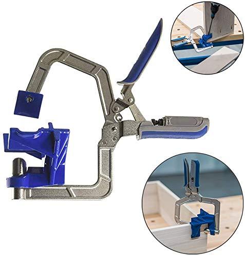 Abrazadera de esquina de 90 °, herramientas de abrazadera de esquina autoajustable para trabajar la madera, ingeniería, soldadura, carpintero
