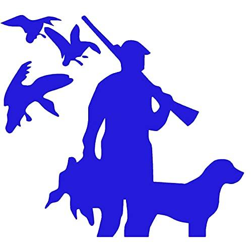 Pegatina para parachoques de 14 x 12,8 cm, diseño de pato, perro de caza de pato y perro de moda agravado coche estilo de coche color: como se muestra (color: 4)