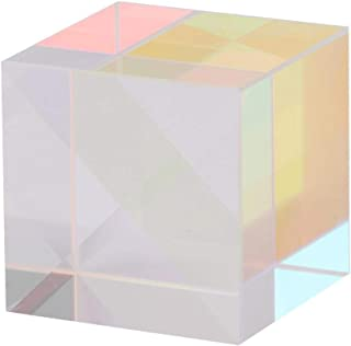 Six-Sided High Presision Cube Optical Glass Prism for Indoor Outdoor for Decoration for Photography(1.51.51.5cm)