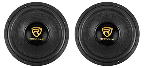 (2) Rockville W15K9D4 15' 10,000w Car Subwoofers Dual 4-Ohm Subs CEA Compliant