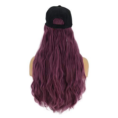WOVELOT Accessoire de Cheveux SynthéTiques Longs OnduléS Cheveux éPais Cap Casquette de Baseball FéMinine