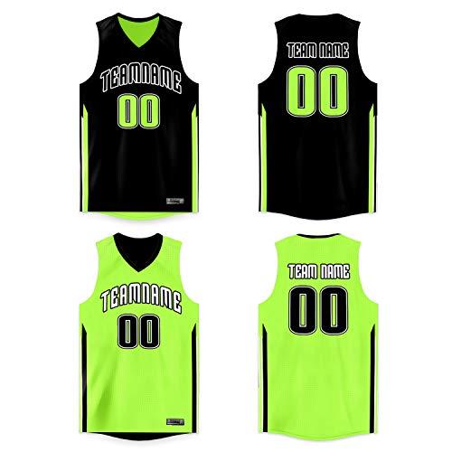 Custom Men Youth Basketball Jerseys Printed Reversible Mesh Performance Athletic Blank Team Uniforms for Sports