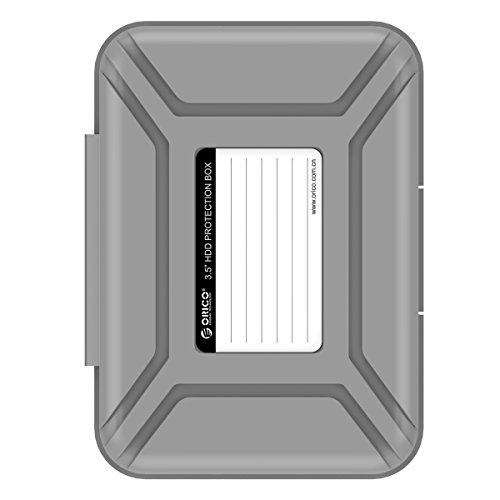 ORICO Hard Drive Case 3.5 Protective Storage Case for 3.5' HDD Portable, Anti-Static, and Anti-Shock - Gray