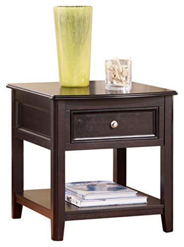 Signature Design by Ashley Carlyle Rectangular End Table Almost Black