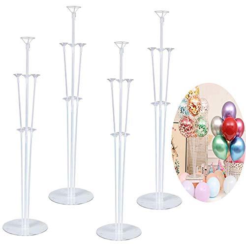 4 Piezas Porta Globos Globo Varillas de Plástico, Soporte de Globo Transparente, Kit de Soporte de Globos, para Fiesta, Celebración, Cumpleaños, Decoración Boda