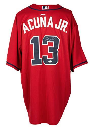 Ronald Acuna Jr. Signed Atlanta Red Baseball Jersey JSA ITP
