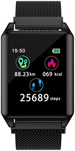 hwbq Reloj inteligente Fitness Tracker Impermeable Reloj Deportivo Frecuencia Cardíaca Presión Arterial Monitoreo del Sueño Podómetro Pulsera