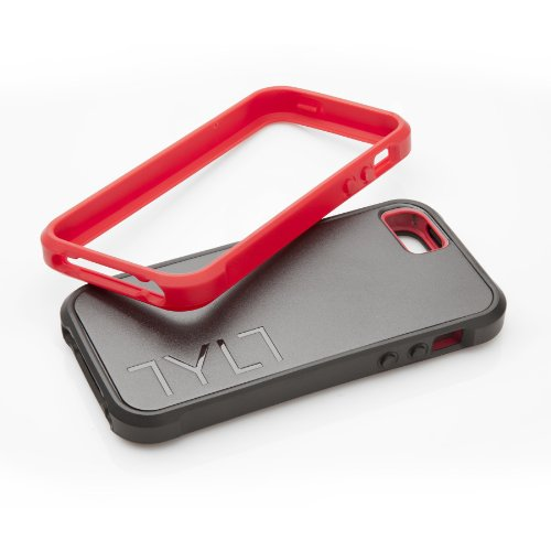 Tylt IP5BPRSRD-T BUMPR Protective Case for iPhone 5 - Three Cases in one - Retail Packaging - Black