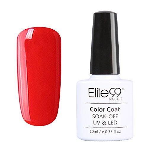 Elite99 Vernis A Ongles Semi Permanent Gel UV ou LED Soak Off Manucure Serie Bordeaux 10ml 001
