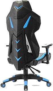 هاه Gaming Chair Office Adjustable High Back Chair Gaming Computer Ergonomic Swivel Competitive Blue Game .حياة جميلة