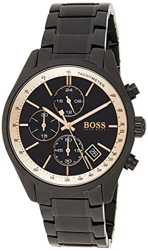 Hugo Boss Unisex Chronograph Quarz Armbanduhr mit Edelstahlarmband