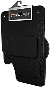 Connected Essentials CEM650 Car Mat Set  Black with Black Trim  Premium