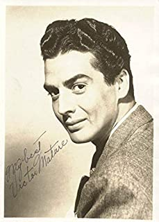 Victor Mature - Photograph Signed